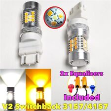 V2 Front Signal 3157 3057 4157 Switchback 6K Amber LED Light Bulb B1 For Eagle A