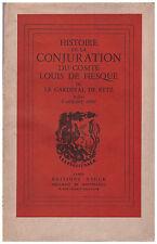 RETZ Cardinal de - HISTOIRE DE LA CONJURATION DU COMTE LOUIS DE FIESQUE - 1949