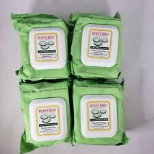 4 Packs Burt's Bees Cotton Cucumber & Sage Facial Cleansing Towelettes - 30ct