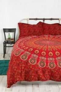 Bedding Set Queen Size Duvet Cover Mandala Hippie Gypsy Indian Quilt Cover Boho