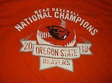 2018 Oregon State Beavers NCAA Baseball Champions T Shirt Sz Medium M Cotton