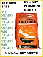 Bond It Ad-floor Self Level Floor Levelling Compound 2-50mm Grey 20kg X 10 Bags