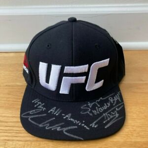 Chris Weidman and Stephen Wonderboy Thompson Signed Autographed Hat