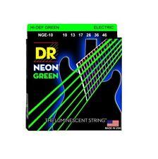 DR Strings NGE-10 Coated Nickel Hi-Def Green Electric Guitar Strings, Medium,...
