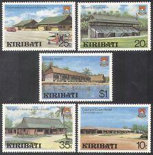 Kiribati 1980 Airport/Stadium/Buildings/Architecture/Palm Trees 5v set (n40025)