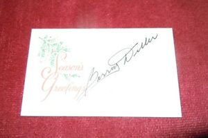 Barry Diller Signed, Autographed Card