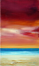 Sunset by Brian Eden Original Acrylic Painting Modern Portrait Painting