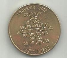 Fairport, NY,  1967 centennial  souvenir 50 cent coin or token