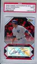 2006 Finest Refractor Autograph  Alex Rodriuez    PSA Mint 9 Yankees