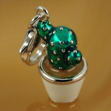 Charm 925 Silber Kaktus 3D Einhänger Anhänger Charm Träger Bettelarmband NEU