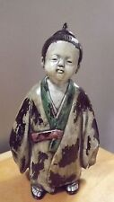 Japan Japanese RARE Antique Cast Iron Japanese Boy / Man Figurine NICE