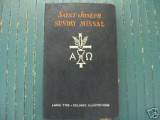 SAINT JOSEPH SUNDAY MISSAL-REV HOEVER-CONFRATERNIT-1957