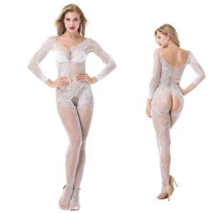 Women's Sexy lace Lingerie Fishnet Body stockings Bodysuit Underwear 8511