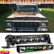 7 inch 6D LED Light Bar Super Bright Spot Beam for Ford Pickup F-150 F-250 F-350