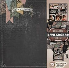 """""""Chalkboard"""" Double-Sided Paper Pack - Hot Off The Press"""