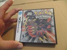 Pokemon Platinum Version (Nintendo DS, 2009) DSlite DSi 3DS XL Complete VGC