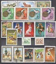 R9955 - MONGOLIA 1973 - LOTTO 20 DIFFERENTI DEL PERIODO - VEDI FOTO