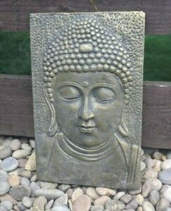 Latex Mould for Stone Garden Ornament Large Thai Wall Plaque Buddha Statue 35cm