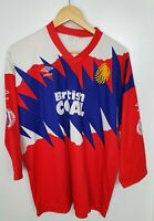 """Vintage 90s UMBRO Great Britain Rugby League British Coal Lions Jersey Chest 48"""""""