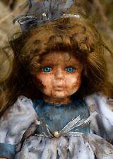 Creepy, ooak horror doll Rue ~ Handpainted, zombie, ghostly.