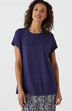 J. Jill ~ L(16/18) ~ Gorgeous Blackberry Short Cap-sleeve Linen/Modal Top ~ NWT