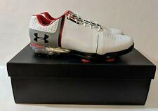 New Men's Under Armour Ua Spieth Golf Shoes White Size 11 E Wide 1302342 108