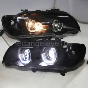LED front lamps for BMW X5 E53 LED Head Lights LED Angel Eyes 1998-2003 year JY