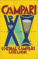 Cordial Campari Liquor 1927 Vintage Poster Print Art Drinks Italian Advertising