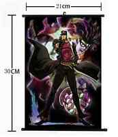 Anime Jojo JoJo's Bizarre Adventure Jotaro Wall Poster Scroll Home Decor 787