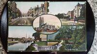 DRIFFIELD YORKSHIRE  MARKET TOWN WOLDS ORIGINAL POSTCARD 1910 STAMP EDWARD VII