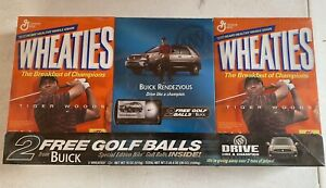 Tiger Woods 2002 WHEATIES  Buick Promo Boxes with Golf Balls Factory Sealed RARE