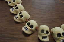 Skulls on a String, Day of the Dead, Clay Skulls, Halloween