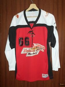 #66 Holmen Red Eagles ICE HOCKEY Jersey Shirt SWEATER AJAR Size M Tricot NORWAY