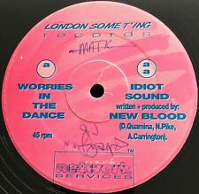 """New Blood – Worries In The Dance / Idiot Sound (12"""") 1994 Jungle ⊗ (⟳Y2G)"""