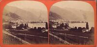 Suisse Clarens Verneux MONTREUX Stereo Stereoview Vintage Albumina