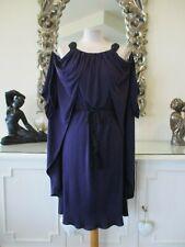 TEMPERLEY LONDON Designer Purple Silk Jersey Draped Cape Style Belted Dress 12