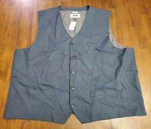 Joseph Abboud Classic Fit Men's 4XL Blue Waistcoat Vest Big Tall NWT New