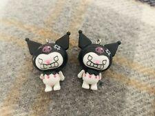 2 RARE Kuromi Puppet Japan Sanrio Charm HELLO KITTY Melody Gothic Punk Halloween