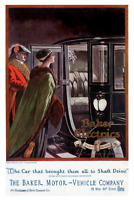 Baker Electric Car Ad 1912 Poster 12 x 18