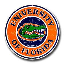 "FLORIDA GATORS 12"" ROUND METAL FLORIDA GATORS MAN CAVE SIGN UNIVERSITY"