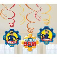 6 Pack Remolinos Sam el Bombero Heroe Infantil Fiesta Cumpleaños Suministros
