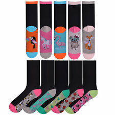 Ladies//Womens Cotton Rich Animal Print Socks Pack of 3 Size UK 4-7 W243