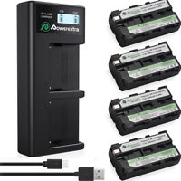 NP-F550 NP-F330 Battery + Charger For Sony NP-F570 NP-F750 NP-F960 F970 F770 NEW