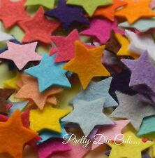 30 Felt Stars, 1.8cm, 0.7 inches, die cut star shape Craft Embellishments