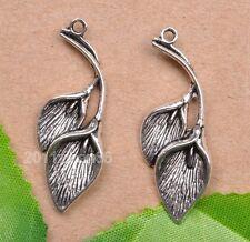 wholesale 10pcs tibetan silver Flower  Charm Pendant Fit necklace 38mm
