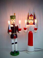 Engel und Bergmann mit Licht beleuchtet 41 cm groß Beleuchtung + Trafo 20009