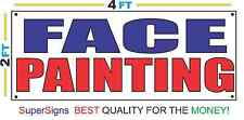 2x4 FACE PAINTING Banner Sign Red White & Blue NEW Discount Size & Price