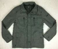 Billabong - Grey Wool Blend Jacket With Liner - Mens - Size M