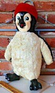 Vintage Rubber Faced & Footed Rushton Pastiche Chilly Willy Penguin Character!