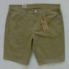 Levis 511 Slim Shorts Mens Size 34 Beige Brushed Cotton